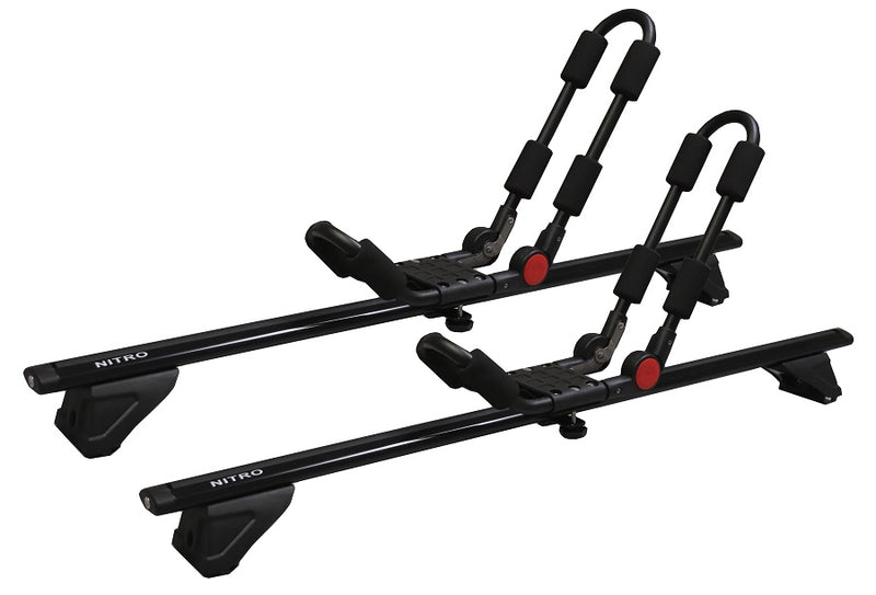 BrightLines Dodge Nitro Roof Rack Crossbars Kayak Rack Combo 2007-2012 - ASG AUTO SPORTS