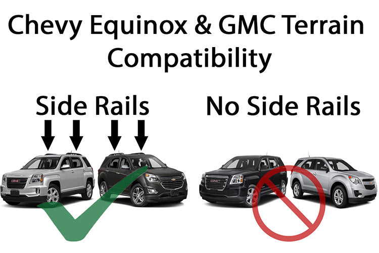 BrightLines GMC Terrain Roof Rack Crossbars and Ski Rack Combo 2010-2017 - ASG AUTO SPORTS