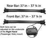 BrightLines Roof Rack Crossbars and Kayak Rack Combo Replacement for Chevy Equinox 2010-2017 - ASG AUTO SPORTS