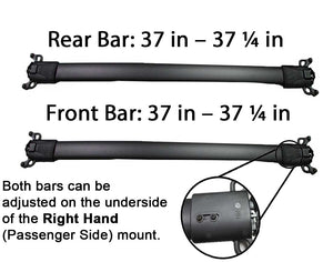 BrightLines Roof Rack Crossbars and Ski Rack Combo Replacement for Chevy Equinox 2010-2017 (4 pairs skis or 2 snowboards) - ASG AUTO SPORTS