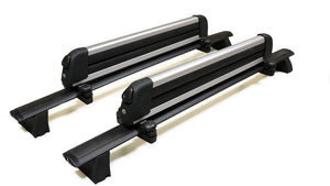 BrightLines Roof Rack Crossbars and Ski Rack Combo Replacement for Jeep Grand Cherokee 2011-2020 ( Up to 4 Skis or 2 Snowboards) - ASG AUTO SPORTS