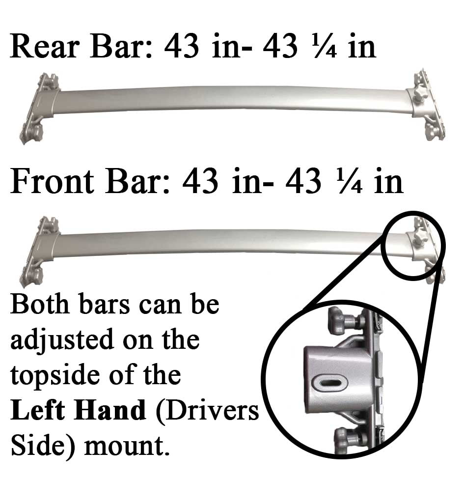 BRIGHTLINES Roof Rack Silver Cross Bar Replacement for Toyota Highlander 2008-2013