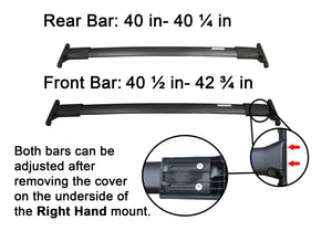 BrightLines Roof Rack Crossbars Kayak Rack Combo Replacement For Ford Escape 2013-2019 - ASG AUTO SPORTS