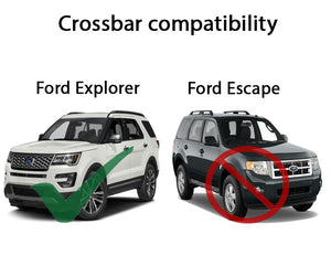 BrightLines Ford Explorer Roof Rack Crossbars 2016-2019 - ASG AUTO SPORTS