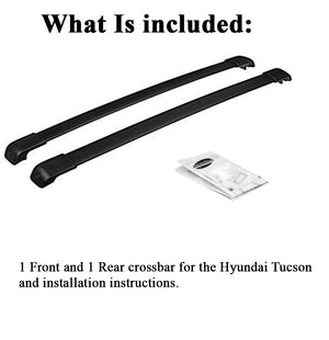 BrightLines Hyundai Tucson Roof Rack Crossbars 2016-2020 - ASG AUTO SPORTS