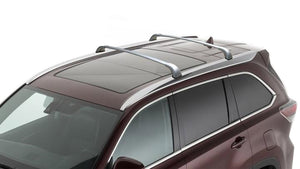 BrightLines Toyota Highlander XLE Limited SE Roof Rack Crossbars 2014-2019 in Silver - ASG AUTO SPORTS