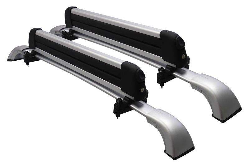 BrightLines Toyota Highlander XLE Limited SE Roof Rack Crossbars Ski Rack Combo 2014-2019 in Silver (4 pairs skis or 2 snowboards) - ASG AUTO SPORTS