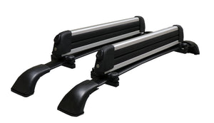BrightLines Toyota Highlander LE LE Plus Roof Rack Crossbars Ski Rack Combo 2014-2019 (Up to 4 Skis or 2 Snowboards) - ASG AUTO SPORTS