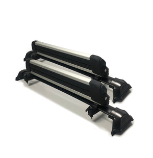 BrightLines Roof Rack Crossbars (Factory second) and Ski Rack up to 4 pairs skis or 2 snowboards (New condition) Combo Compatible with 2017-2020 Honda CRV - ASG AUTO SPORTS