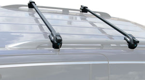 BrightLines Audi A4 Roof Rack Crossbars Ski Rack Combo 1998-2008 Lockable Steel (Up to 4 Skis or 2 Snowboards) - ASG AUTO SPORTS