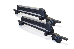 BrightLines Audi A6 Roof Rack Crossbars Kayak Rack Combo 1995-2004 Lockable Steel (Up to 4 Skis or 2 Snowboards) - ASG AUTO SPORTS