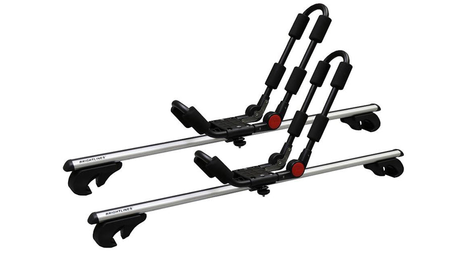 BrightLines Jeep Cherokee Roof Racks Cross Bars Kayak Rack Combo 2014-2020 - ASG AUTO SPORTS