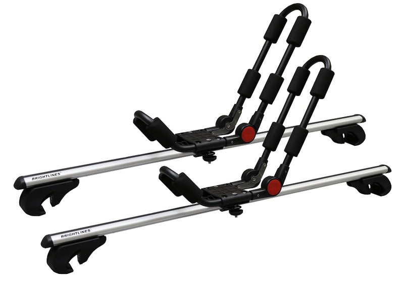 BrightLines Subaru Outback Roof Racks Cross Bars Kayak Rack Combo 1995-2009 - ASG AUTO SPORTS