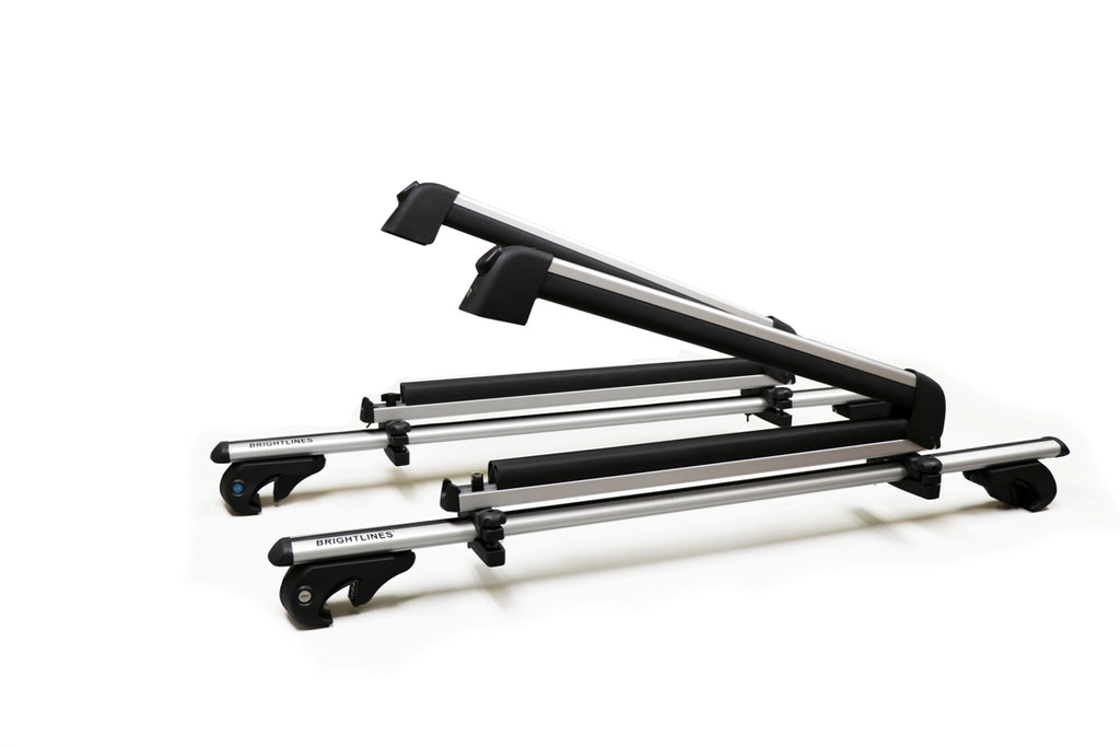 BrightLines Volvo Xc70 Roof Racks Crossbars Ski Rack Combo 2003-2014 - ASG AUTO SPORTS
