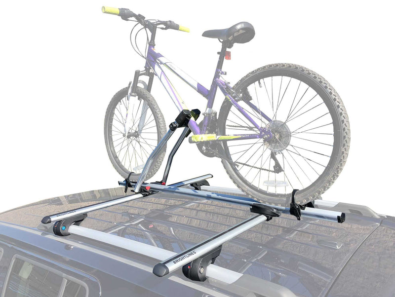 BrightLines Subaru Forester Roof Racks Cross Bars Bike Rack Combo 2009-2020 - ASG AUTO SPORTS