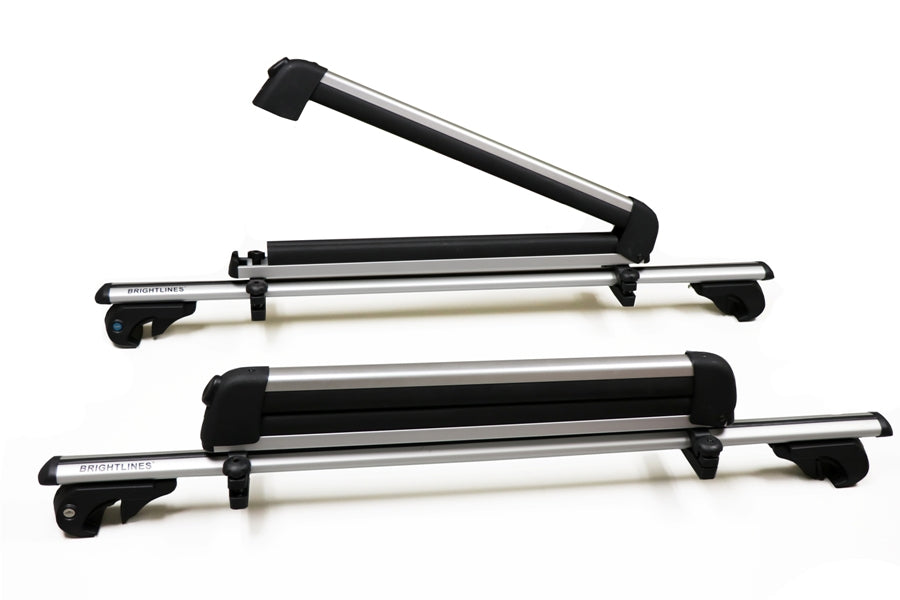 BrightLines Ford Explorer Roof Racks Cross Bars Ski Rack Combo 2011-2015 (Up to 4 Skis or 2 Snowboards) - ASG AUTO SPORTS