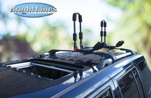 BrightLines Jeep Patriot Roof Rack Crossbars Kayak Rack Combo 2007-2017 - ASG AUTO SPORTS