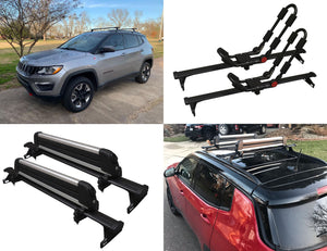 BrightLines Jeep Compass Roof Rack Crossbars 2018-2020 - ASG AUTO SPORTS