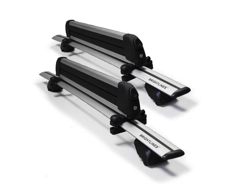BRIGHTLINES Crossbars Roof Racks Ski Rack Combo Compatible with Hyundai Kona 2019-2020 ( Up to 4 Skis or 2 Snowboards)