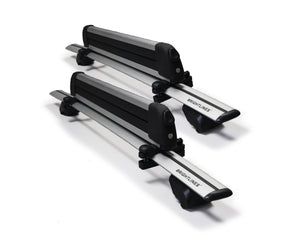 BrightLines Roof Rack Crossbars and Ski Rack Combo Compatible with Ford Explorer 2020 (Up to 4 Skis or 2 Snowboards) - ASG AUTO SPORTS