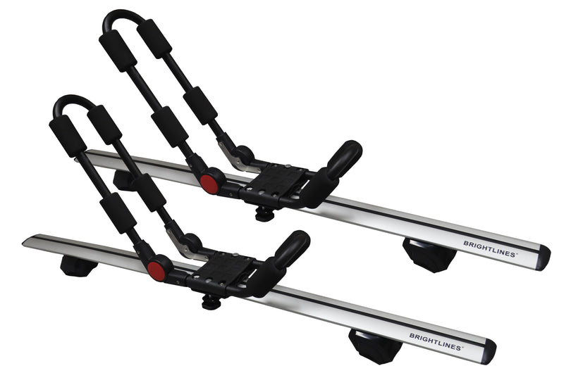 BRIGHTLINES Roof Rack Cross Bars Kayak Rack Combo Compatible with Volvo XC40 2019-2020