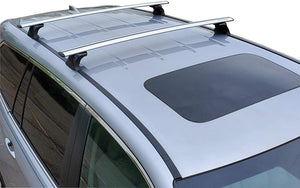 BRIGHTLINES Crossbars Roof Racks Ski Rack Combo Compatible with 2016-2020 Honda Pilot Without Roof Side Rails (Up to 4 Skis or 2 Snowboards) - ASG AUTO SPORTS