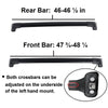 BrightLines Roof Rack Crossbars Replacement For Toyota Highlander XLE LIMITED SE 2014-2019-USED - ASG AUTO SPORTS