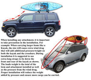 BrightLines Hyundai Tucson Roof Racks Cross Bars Kayak Rack Combo 2004-2015 - ASG AUTO SPORTS