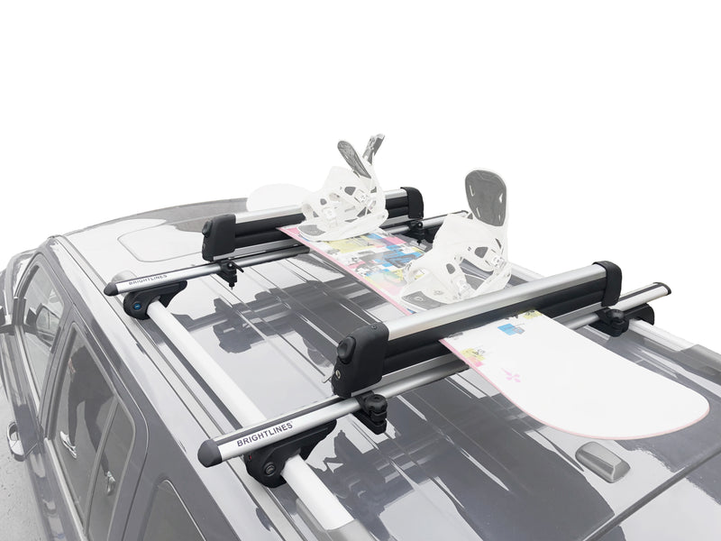 BrightLines Dodge Journey Roof Racks Cross Bars Ski Rack Combo 2009-2019 - ASG AUTO SPORTS