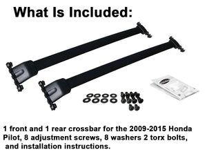 BrightLines Roof Rack Crossbars Kayak Rack Combo Replacement For Honda Pilot 2009-2015 - ASG AUTO SPORTS