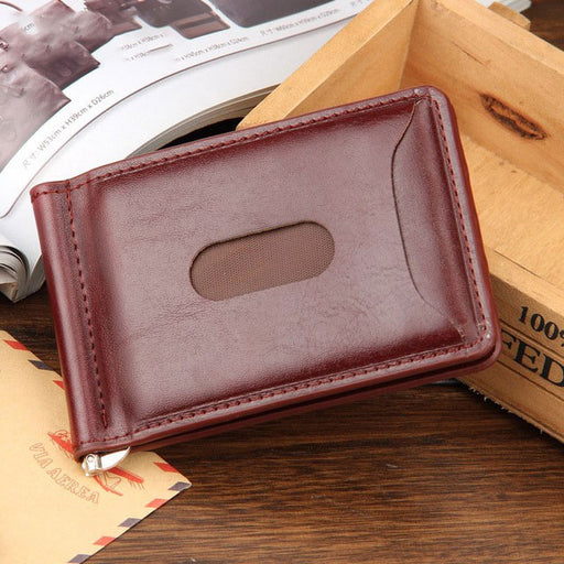 Ultraslim Modern Clip Leather Wallet