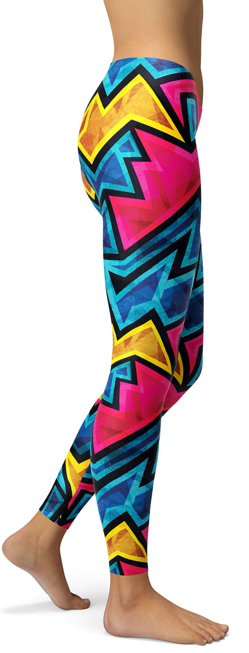 Vintage Geometric Shape Leggings