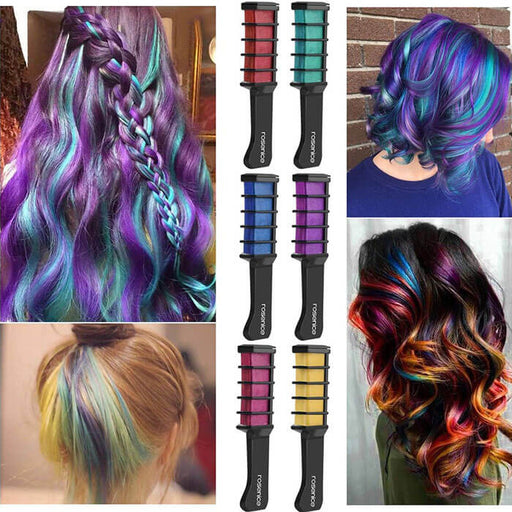 Hair Coloring Chalk Comb