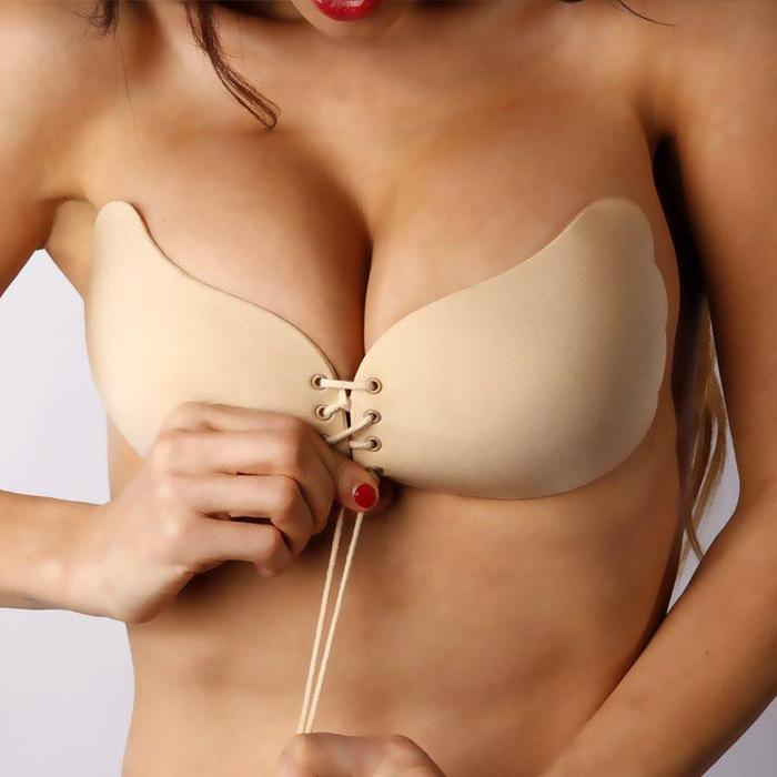 Strapless Backless Invisible Push-Up Bra