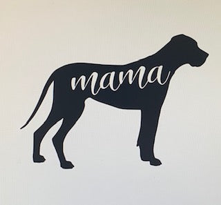 Dog Mama Car Decal