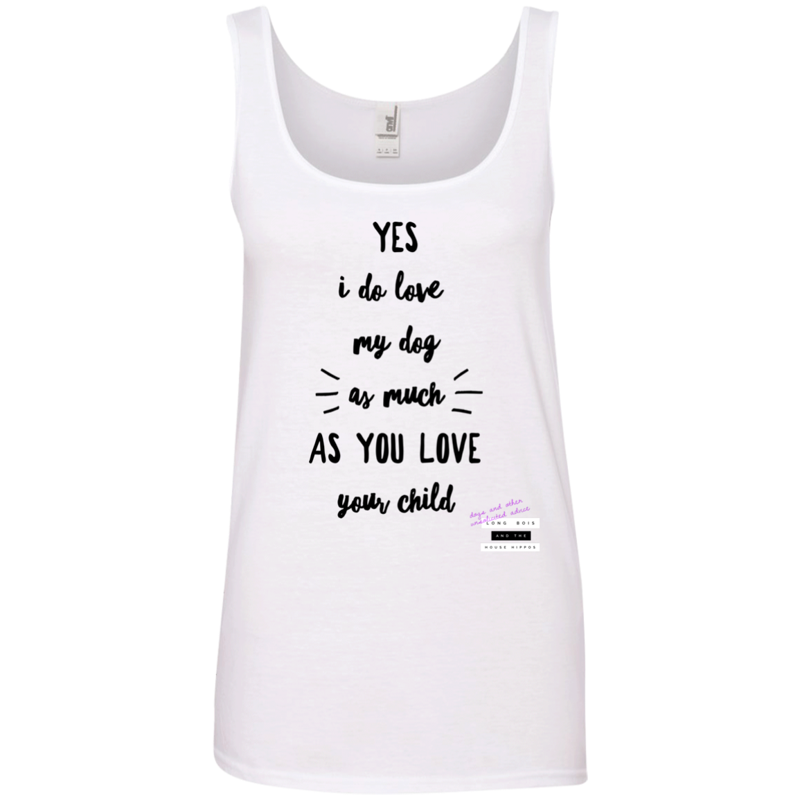 0a016f90ad87bb 882L Anvil Ladies  100% Ringspun Cotton Tank Top – Dogs   Other ...