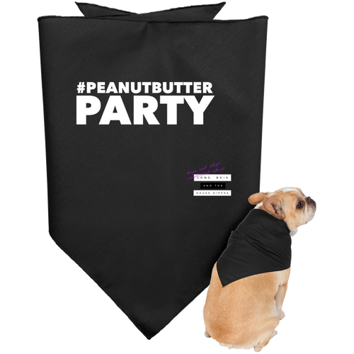 Peanut Butter Party Dark Doggie Bandana