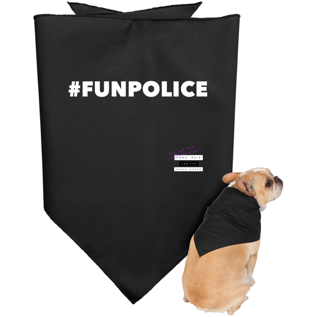 Fun Police Dark Doggie Bandana