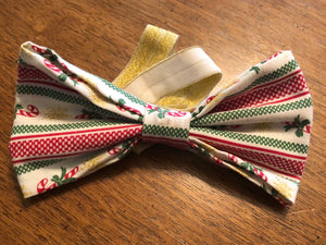 Vintage Holiday Bowtie/Headband