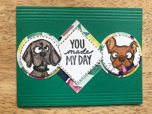 Handmade Greeting Card - DOGS!