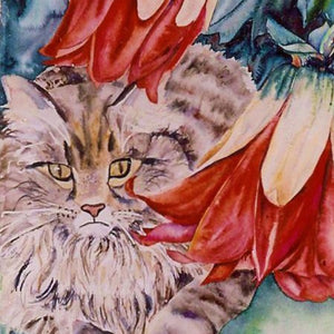 Delilah (cat) Medium Tile