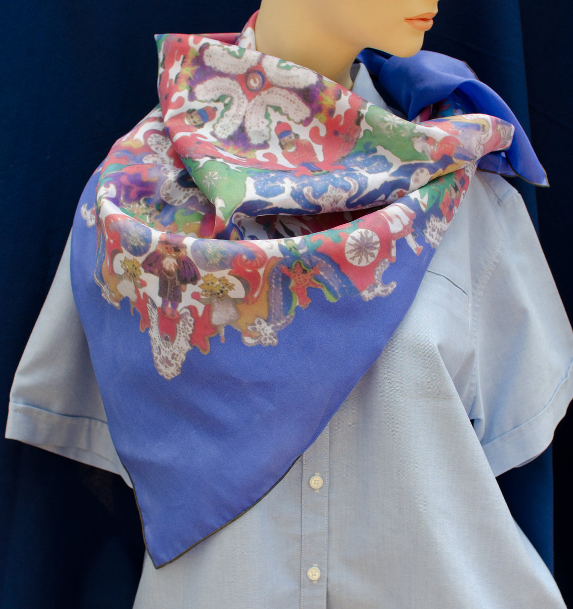 Nutcracker Silk Scarf