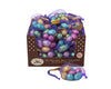 Foil Wrapped Chocolate Easter Eggs in Mesh Bags and Counter Display