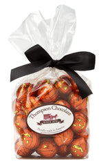 Foil Wrapped Pumpkin Marbles in Cellophane Gift Bag