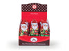 Foil Wrapped Chocolate Hollow Santas in Display