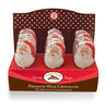 Foil Wrapped Chocolate Santa Pops in Display