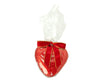 Foil Wrapped Chocolate Fluted Heart in Gift Cello