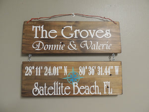 RV sign natural personalized