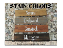 Stain colors Natural Driftwood Gunstock Mahogany