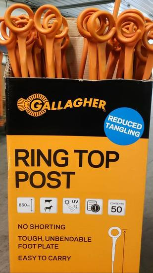 Gallagher Ring Top Fence Posts | 250 Pack,  Free USA Shipping